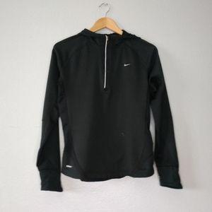 Nike Black 1/4 Zip Hoodie sweatshirt Athletic flaw
